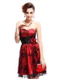 Red & Black Cocktail Dress Pictures, Photos, and Images ...