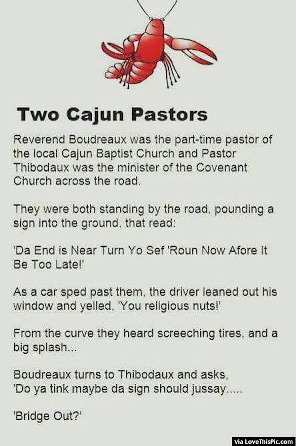 Two Cajun Pastors Joke Pictures Photos And Images For