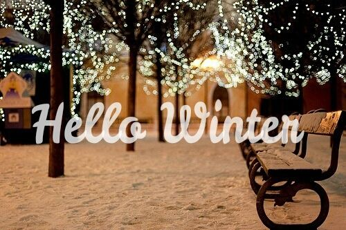 Cute Background Wallpaper For Computer Christmas Lights Hd Hello Winter With Snow And Lights Pictures Photos And