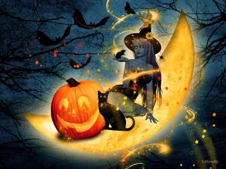 Fall Pumpkin Wallpaper Moon Witch Pictures Photos And Images For Facebook