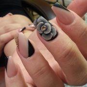 black rose nail art