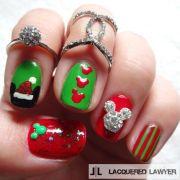 merry mickey christmas nails