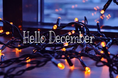 Hello December Quote With Christmas Lights Pictures