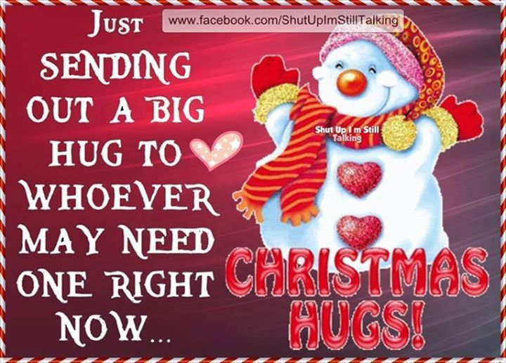 Just Sending Out A Big Christmas Hug Pictures Photos And