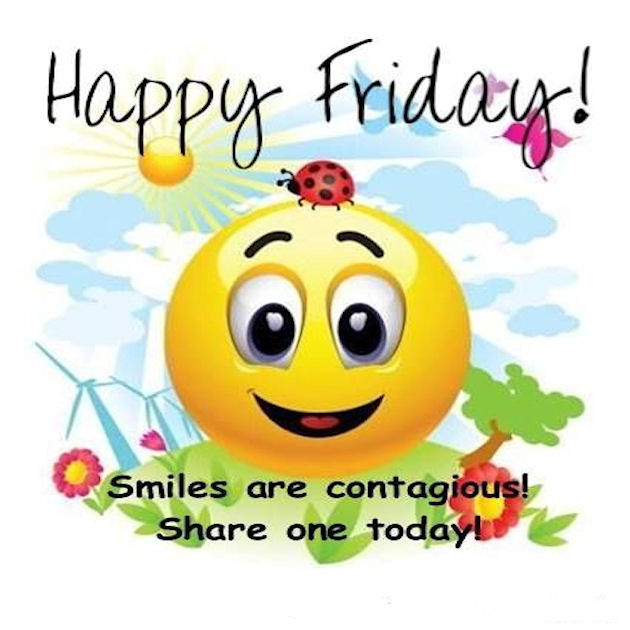happy friday share smile