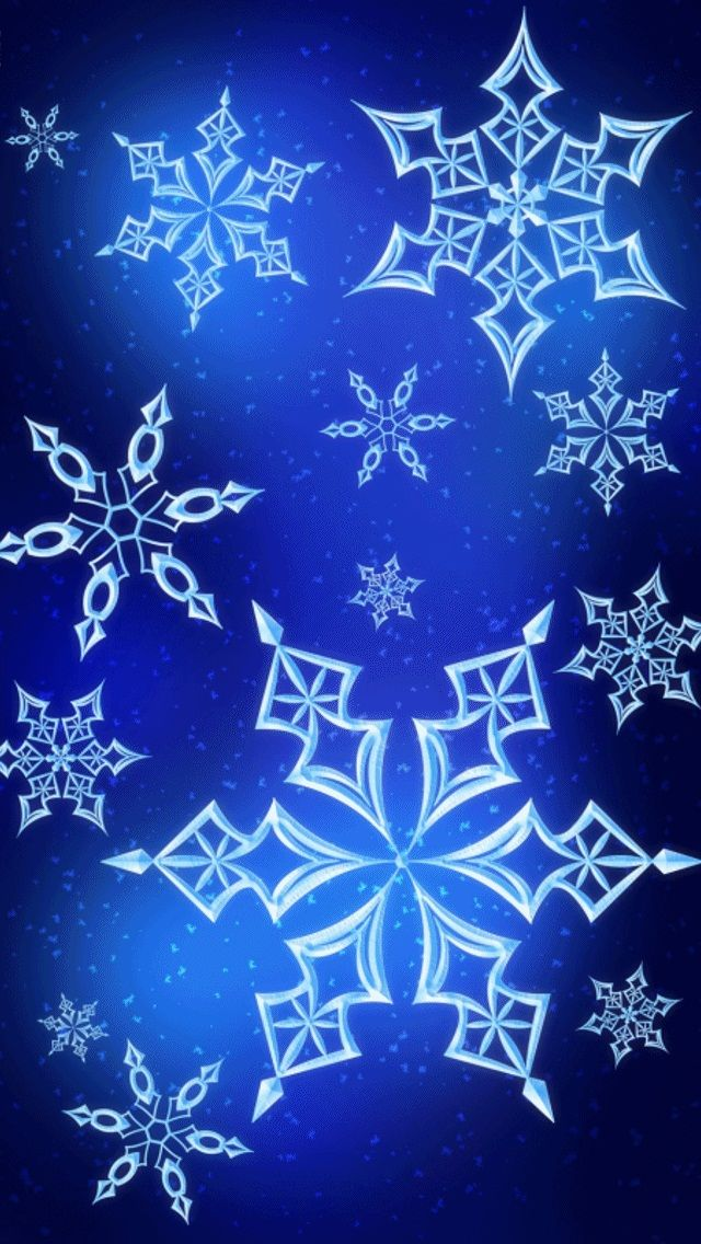 Wallpaper Phone Falling Snowflakes Blue Snowflake Wallpaper Pictures Photos And Images For