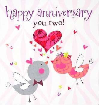 happy anniversary you two