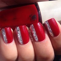 Red Nails With Diamonds Pictures, Photos, and Images for ...