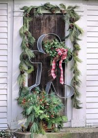 Cute Front Door Christmas Decorations Pictures, Photos