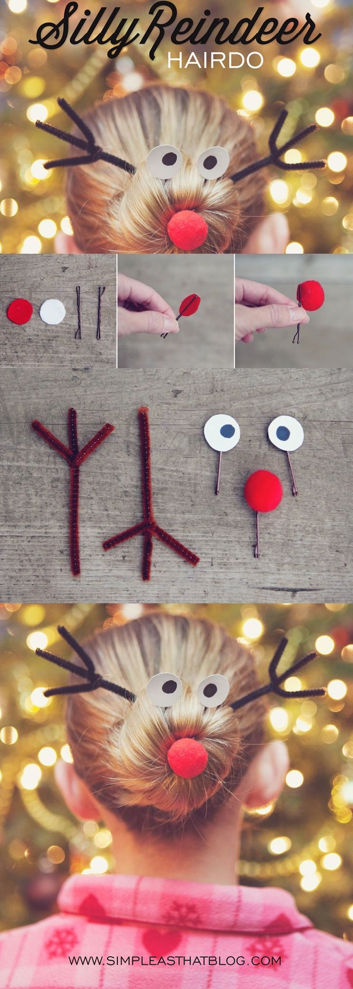 DIY Silly Reindeer Hairstyle Pictures Photos and Images