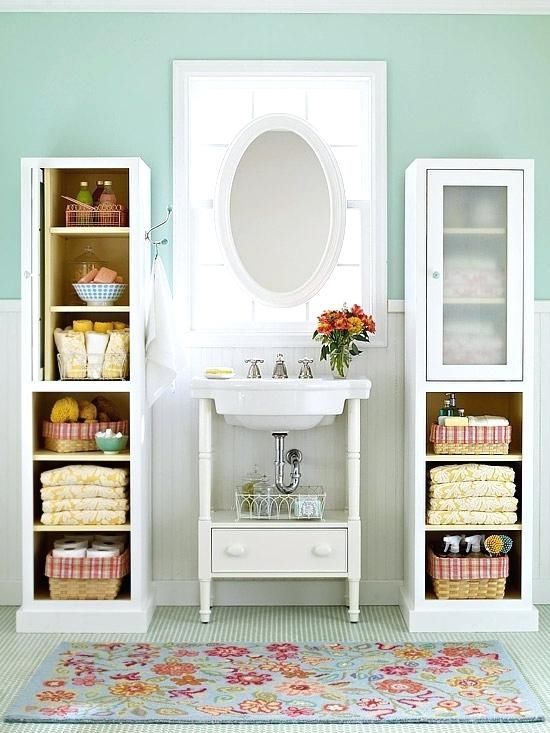 My Favorite Bathroom Interiors And Ideas - Long Opened Cabinets And Drawer