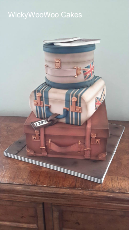 Vintage Travel Wedding Cake Pictures Photos and Images