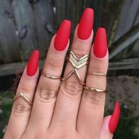 Red Matte Long Nails Pictures, Photos, and Images for ...