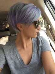pastel dyed pixie hairstyle