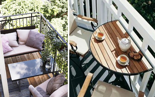 Small Balcony With Bench And Table Pictures Photos and