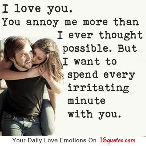 I Love You You Annoy Me More Than I Ever Thought Possible