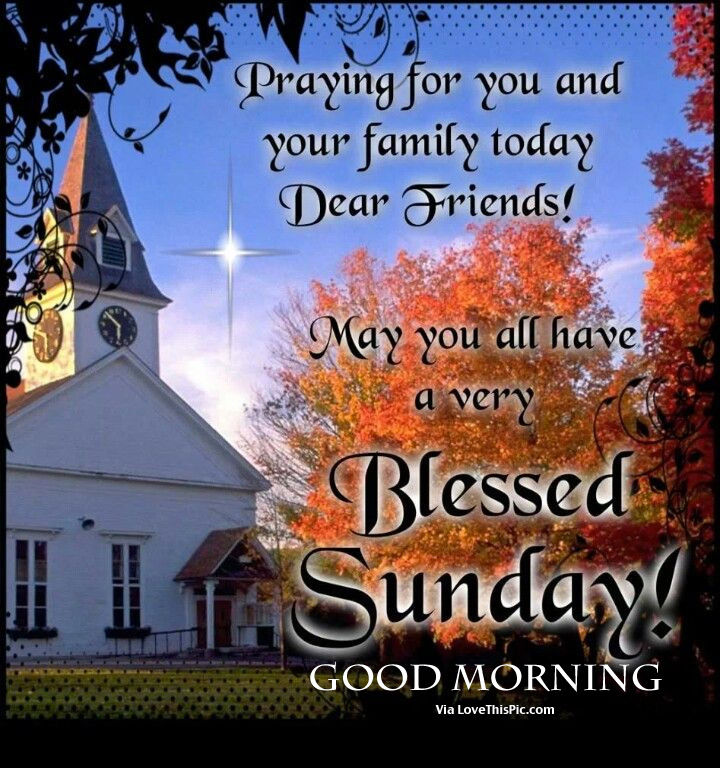 And Morning Prayers Good Blessings Sunday