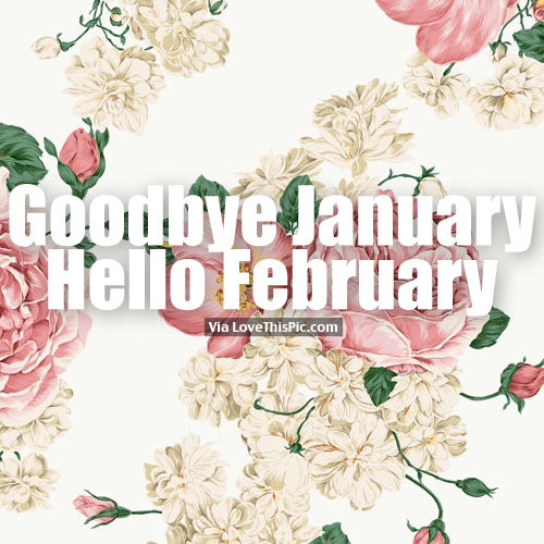Watercolor Fashion Quote Desktop Wallpaper Goodbye January Hello February Flower Background Quote