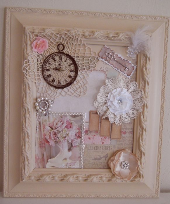 DIY Shabby Chic Framed Collage Pictures Photos and