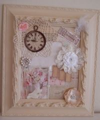 DIY Shabby Chic Framed Collage Pictures, Photos, and