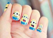 cute minion nail art