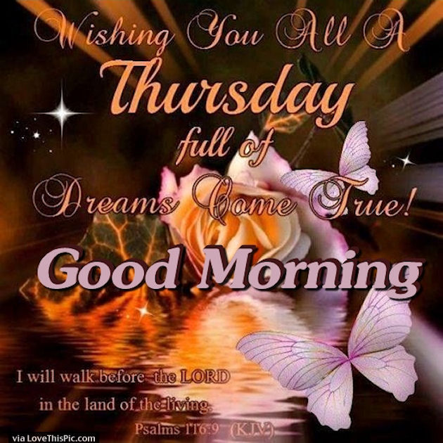Good Morning Thursday Wishing Your Dreams Come True Pictures Photos and Images for Facebook