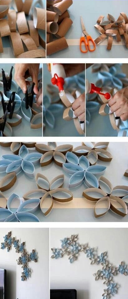 Diy Toilet Paper Rolls Wall Decor Pictures Photos And