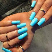 baby blue long nails