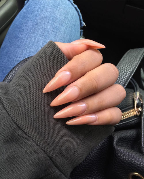 Stiletto Peach Nails Pictures Photos and Images for