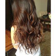 long brown wavy hair