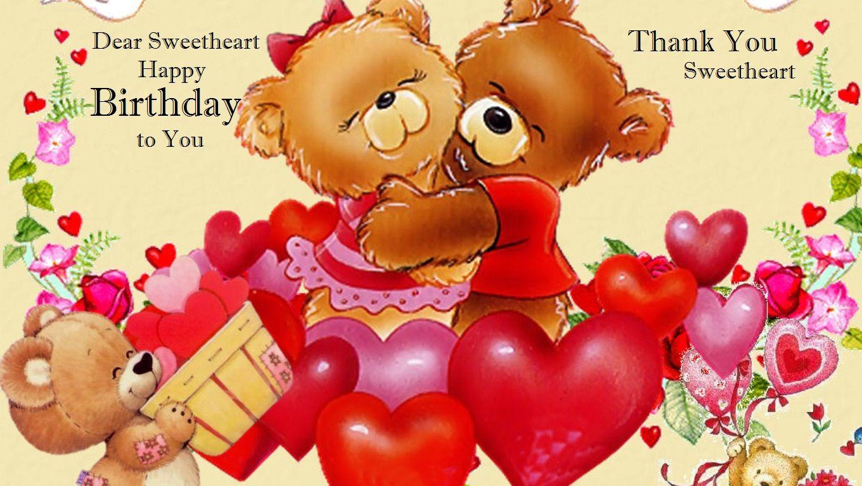 dear sweetheart happy birthday