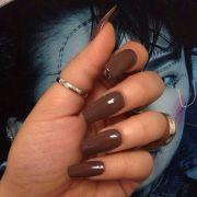 brown gloss nails