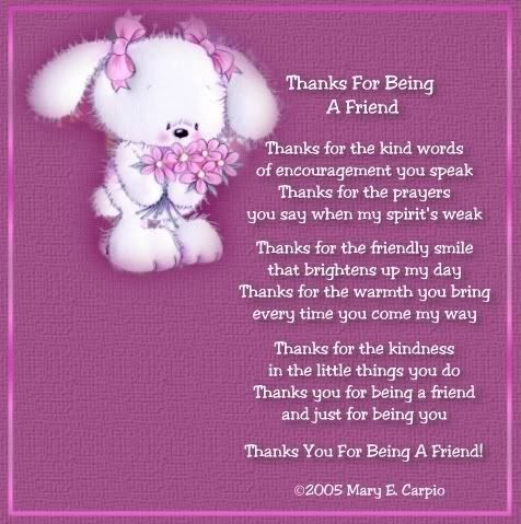 Thanks For Being A Friend Pictures Photos and Images for