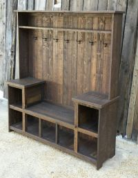 Rustic Reclaimed Hall Tree Bench Pictures, Photos, and ...
