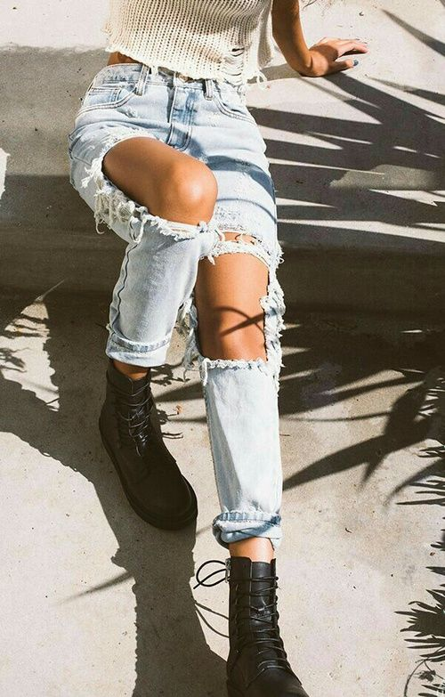 Open Ripped Jeans Pictures Photos And Images For