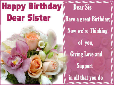 Happy Birthday Dear Sister Pictures Photos And Images For Facebook Tumblr Pinterest And Twitter