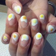fried egg nails