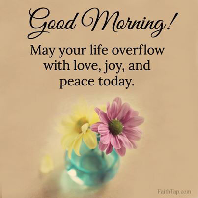 good morning have peace
