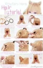 diy kitty ears hair tutorial