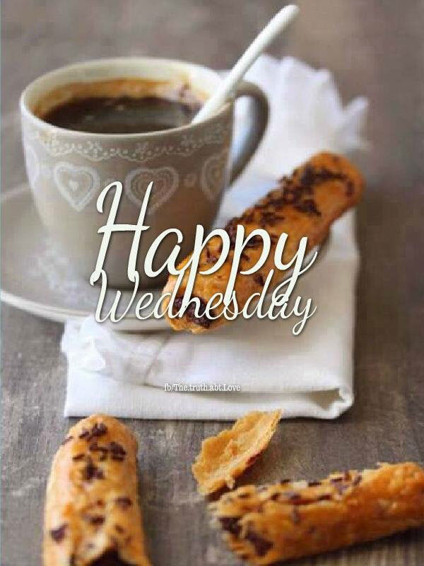 Happy Wednesday Coffee And Biscuits Pictures. Photos. and Images for Facebook. Tumblr. Pinterest. and Twitter