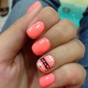 coral nails design