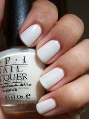 white opi nails