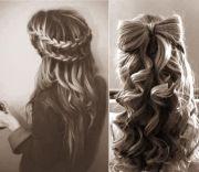 braid wrap and bow hair