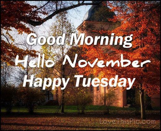Hello Fall Wallpaper Good Morning Hello November Happy Tuesday Pictures Photos