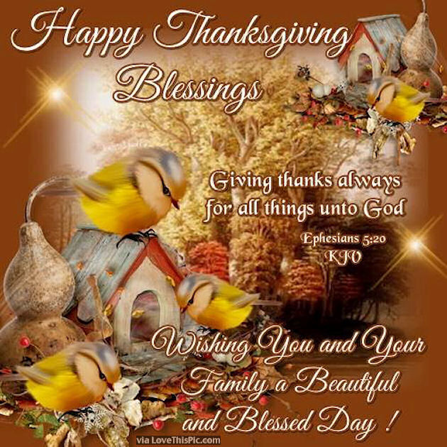 Happy Thanksgiving Blessings Pictures Photos and Images