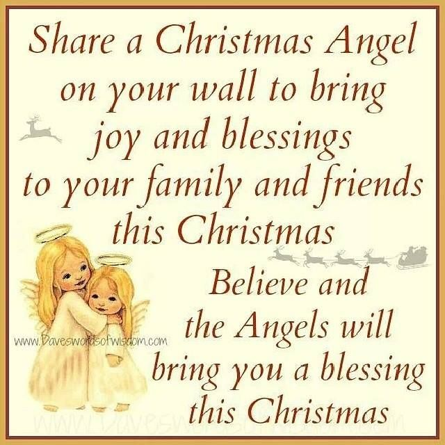 Share A Christmas Angel On Your Wall To Bring Joy And
