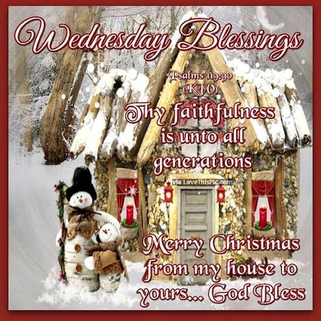 Wednesday Blessings Christmas Quote Pictures Photos And