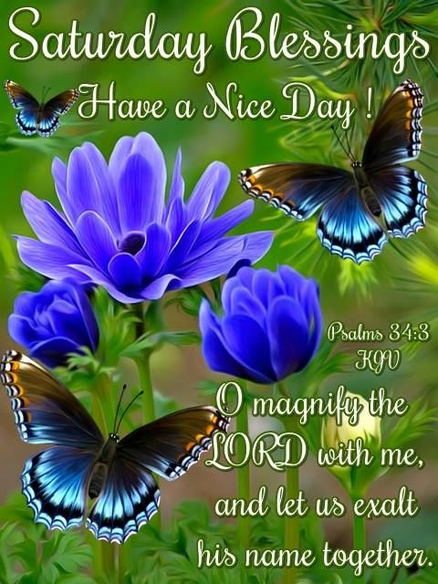 Saturday Blessings Have A Nice Day Religious Quote