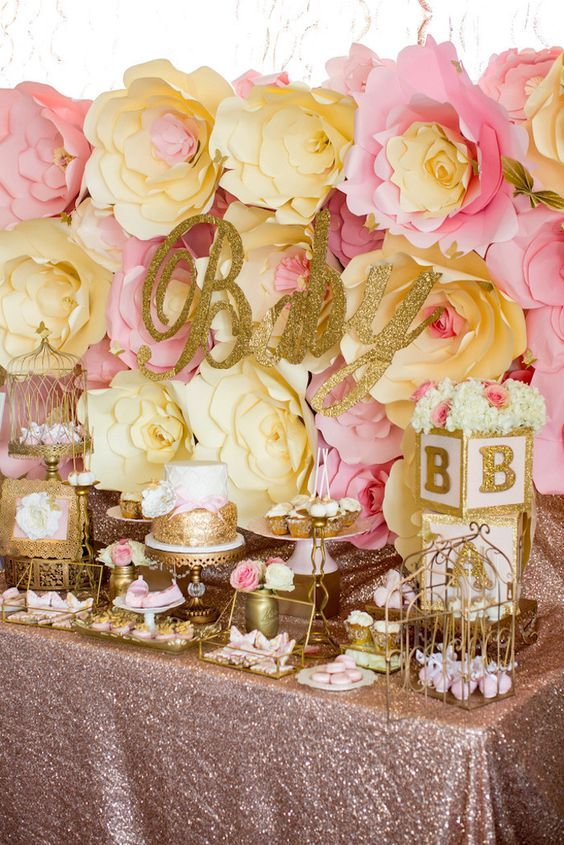 Pink  Gold Butterfly Baby Shower Pictures Photos and