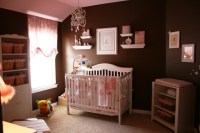 Pink And Brown Baby Room For Girls Pictures, Photos, and